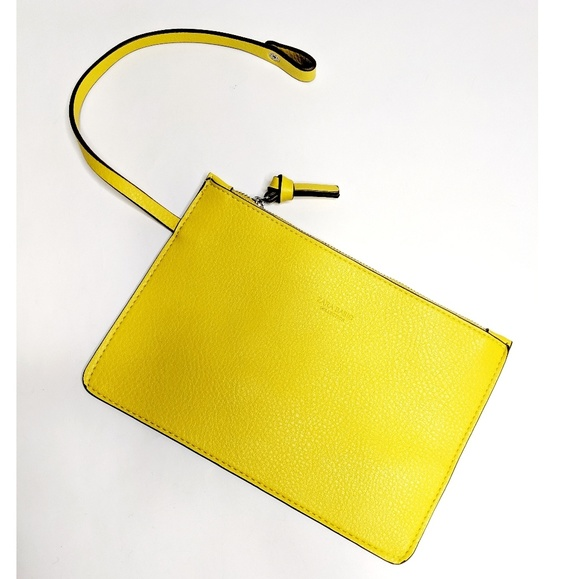 Zara Handbags - Zara Basic Collection Yellow Wristlet NWOT